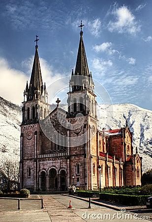 Covadonga church in Asturias, Spain