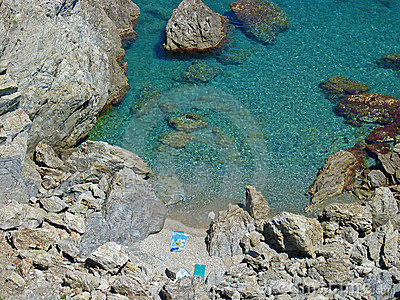 Cove and blue water