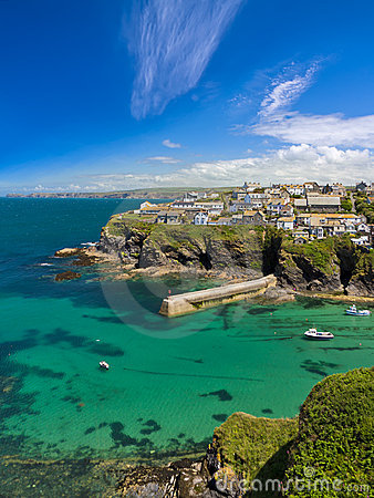 Cove and harbour of Port Isaac, Cornwall, UK