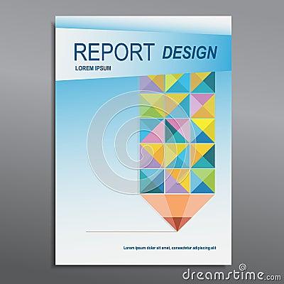 Book Cover Annual Report Pencil Design Illustration Image – Annual Report Cover Page Template