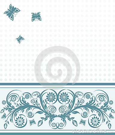 cover background with flower ornament