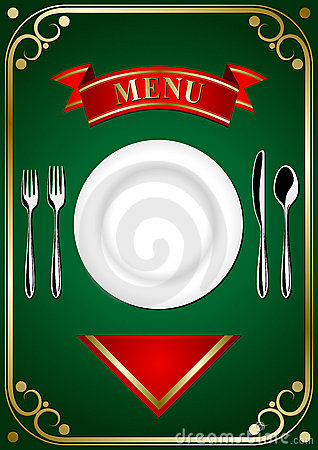 Cover menu - Place Setting