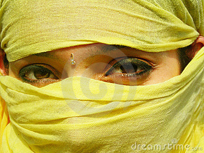 Covered Face Royalty Free Stock Photography - Image: 7576037