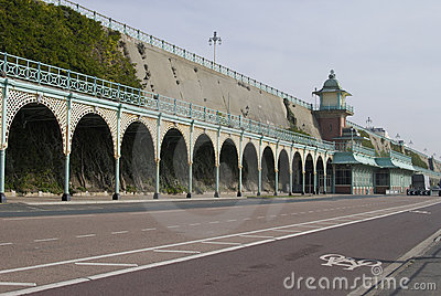Covered walkway on Brighton Seafront