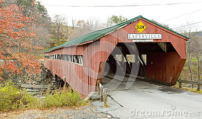 Covered wooden bridge, Vermont