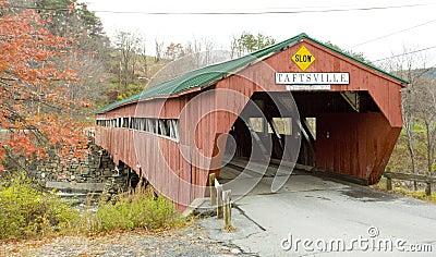 Covered wooden bridge, Vermont