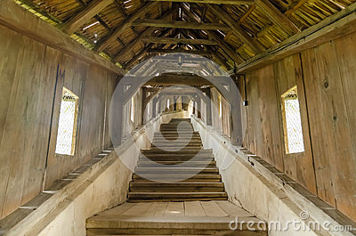 Covered Wooden Stairs Pathway