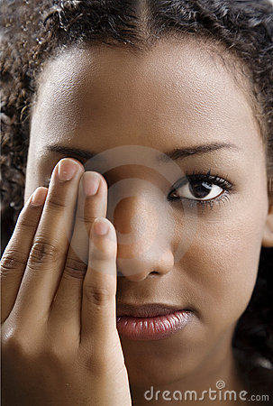 Free Covering One Eye Royalty Free Stock Photo - 7446045