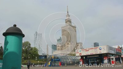 Center of Warsaw during COVID-19 2020 year stock video