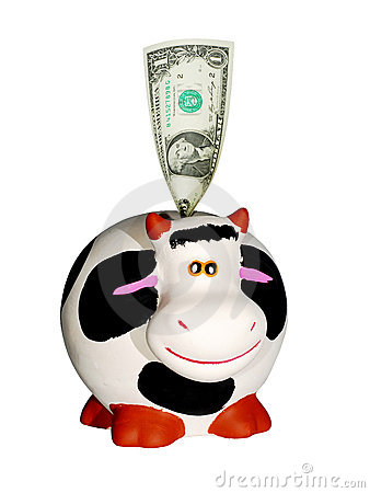 Free Cow Bank Royalty Free Stock Image - 7493436