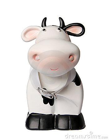 Cow coin box