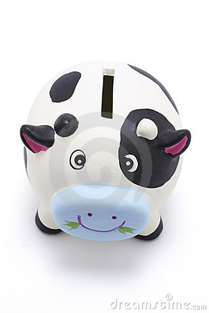 Free Cow Coin Box Stock Photography - 2769252