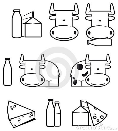 Cow and dairy food