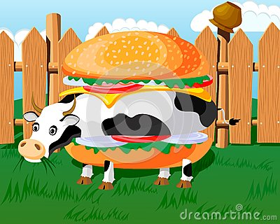 Cow hamburger
