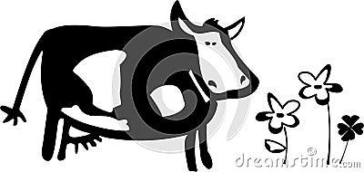 A cow illustration