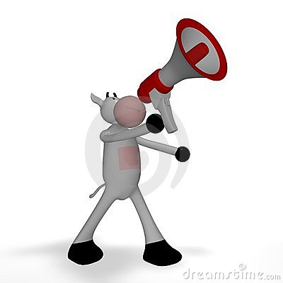 Cow with megaphone