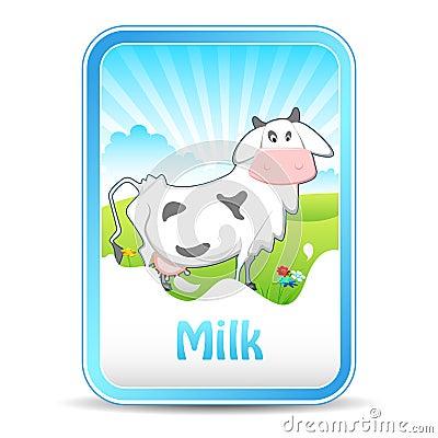Cow on Milk Banner