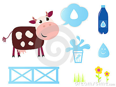 Cow, Milk and Dairy icons collection.