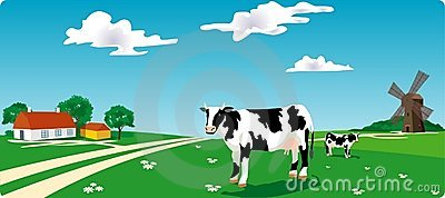 Cow & mill
