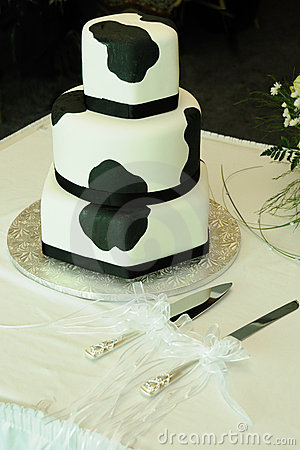 Cow Pattern Wedding Cake