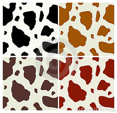 Free Cow Print Pattern Royalty Free Stock Photos - 13207618