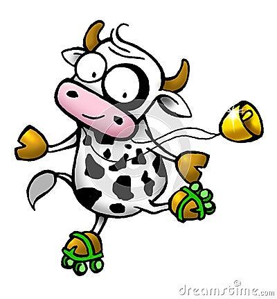 Cow series - roller skate
