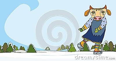 Cow skating