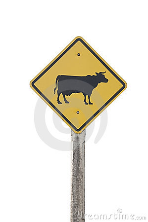 Free Cow Traffic Sign Stock Images - 17838174