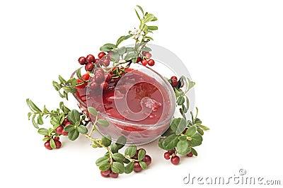 Cowberries jam