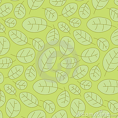 Cowberry leafs seamless pattern
