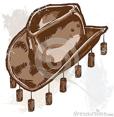 A cowboy or Australian style hat