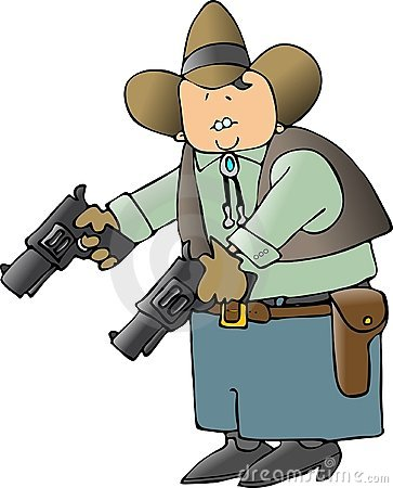 Cowboy With Big Guns