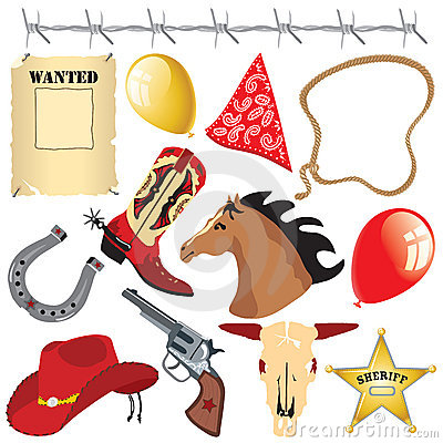 Free Cowboy Birthday Party Clip Art Stock Images - 10220484