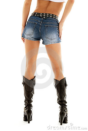 Cowboy boots and denim shorts