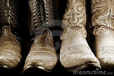 Cowboy Boots in High Contrast Light