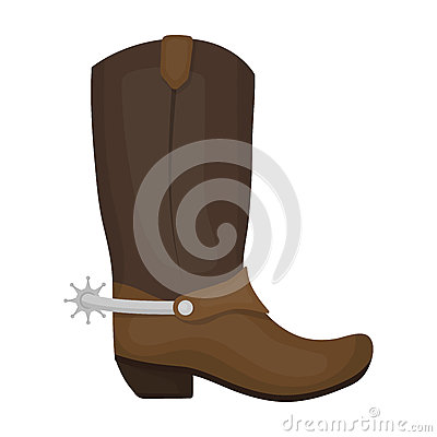 Free Cowboy Boots Icon In Cartoon Style Isolated On White Background. Rodeo Symbol Stock Vector Illustration. Royalty Free Stock Image - 85259686