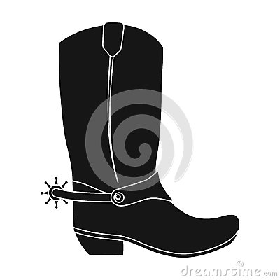 Free Cowboy Boots Icon In Monochrome Style Isolated On White Background. Rodeo Symbol. Stock Images - 85610304