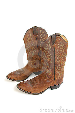 Free Cowboy Boots Isolated On White Royalty Free Stock Images - 577529