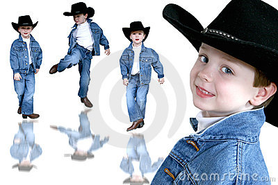 Cowboy Collage Four Year Old Boy