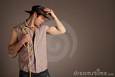 Cowboy (with copyspace)