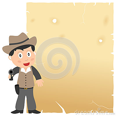 Cowboy et vieux parchemin
