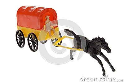 Cowboy frontier wagon toy
