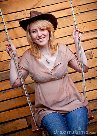 Cowboy girl in hat