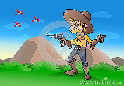 cowboy hold gun