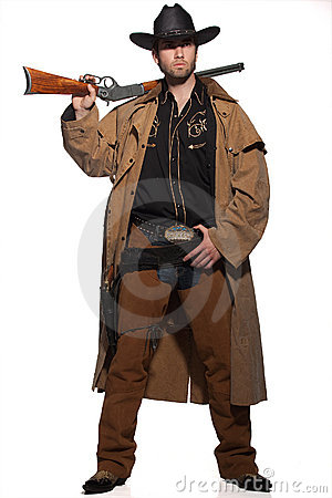 Cowboy holding a rifle