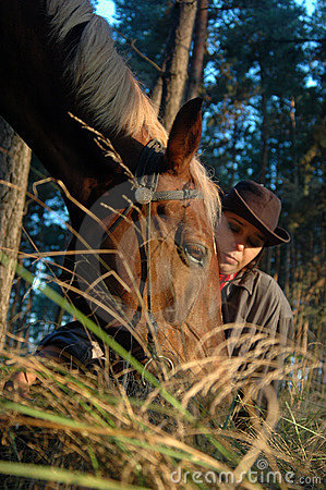 Cowboy with a horse