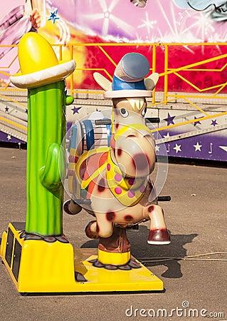 Cowboy horse in an amusement park
