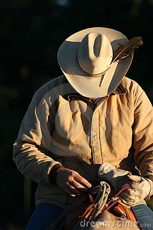 Free Cowboy In Dawn Light Stock Photo - 3716630