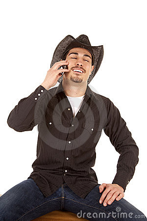 Cowboy laugh phone