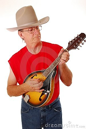 Cowboy with mandolin